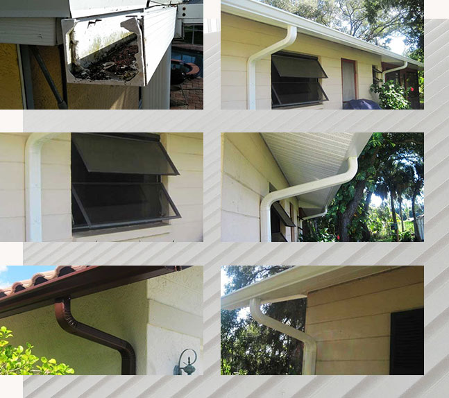Seamless Gutters Installation Project Samples   Roof Smart of SW Florida